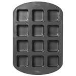 12 Cavity Square Cupcake Pan