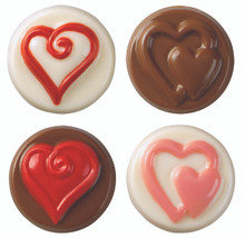 Hearts Cookie Candy Mould