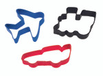 3 Piece Transportation Cookie Cutter Set
