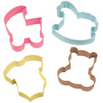 4 Piece Baby Cookie Cutter Set
