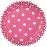 Pink Dots Baking Cups