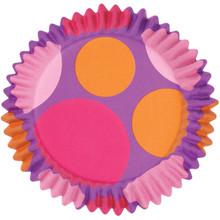 Pink/Purple/Orange Dots ColourCups Baking Cups