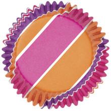 Pink/Purple/Orange Stripes Colour Cups Baking Cups