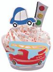 Wheels Cupcake Wraps 'n' Pix