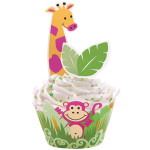 Jungle Pals Cupcake Wraps 'n' Pix