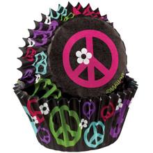 Mini Peace Baking Cups