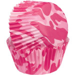 Pink Camo Baking Cups Mini