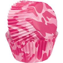 Pink Camo Baking Cups Mini