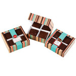 Medium Brownie Striped Treat Box