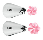 Left Handed Drop Flower Tip Set