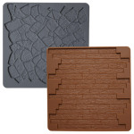 Stone/Wood 2pc Silicone Texture Mat Set