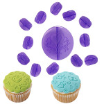14-Pc. Hearts Fondant Cupcake Decorating Set