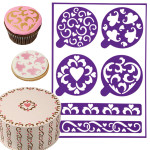 Stick-N-Stay Stencils - Hearts