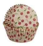 Unbleached Cherry Baking Cups - Mini