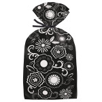 Black and White Floral Party Bags