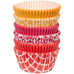 Orange, Pink & Red Baking Cups Value Pack