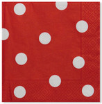 Pois Red 3 ply Napkins - 33cm x 33cm
