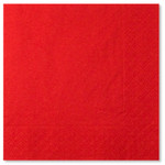 Red 3 ply Napkins - 33cm x 33cm