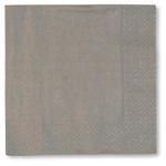 Silver 3 ply Napkins - 33cm x 33cm