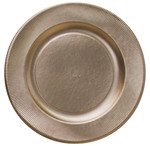 Satin Gold Righe Charger Plate - 32.4cm