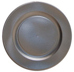 Satin Silver Righe Charger Plate - 32.4cm