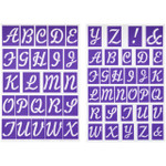 Stick-N-Stay Alphabet Stencils