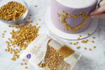 Edible Metallic Gold Sequins