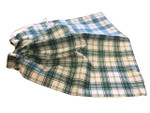 100% Cotton Bread Storage Bag - Green & White Gingham
