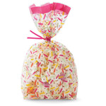Confetti Clear Party Bags and Ties 20pk