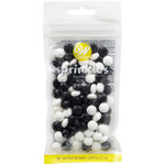Black and White Soccer Ball Sprinkles 56g