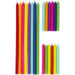 Birthday Candles Tall Short Combo Set