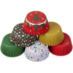 Traditional Holiday Tube Baking Cups Assorted 150pc