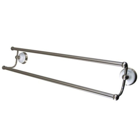 "Satin Nickel 24"" Dual Towel Bar BA1113SN"