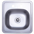 Stainless Steel Gourmetier K16156BN Carefree Single Bowl Self-rimming Bar Sink
