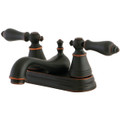 "Naples Bronze Two Handle 4"" Centerset Lavatory Faucet with Retail Pop-up FS3606AL"