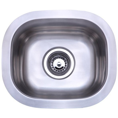 Stainless Steel Gourmetier KU12106BN Country Stainless Steel Single Bowl Undermount Kitchen Sink, Satin Nickel KU12106BN