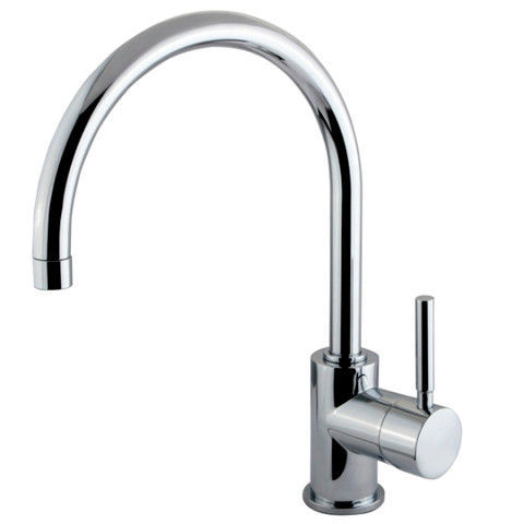Polished Chrome Kingston Brass Concord Single Handle Vessel Sink Faucet  KS8231DL