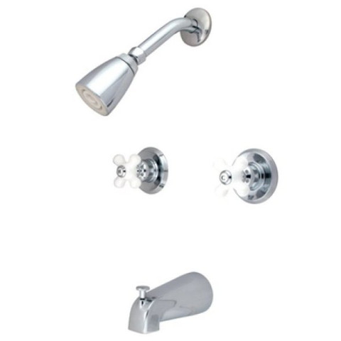 Polished Chrome Two Handle Tub & Shower Faucet KB241PX