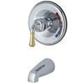 Polished Chrome/Polished Brass Single Handle Tub Faucet KB634TO