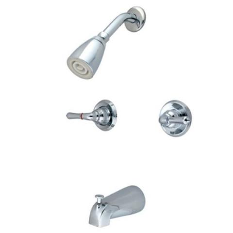 Polished Chrome Two Handle Tub & Shower Faucet KB241