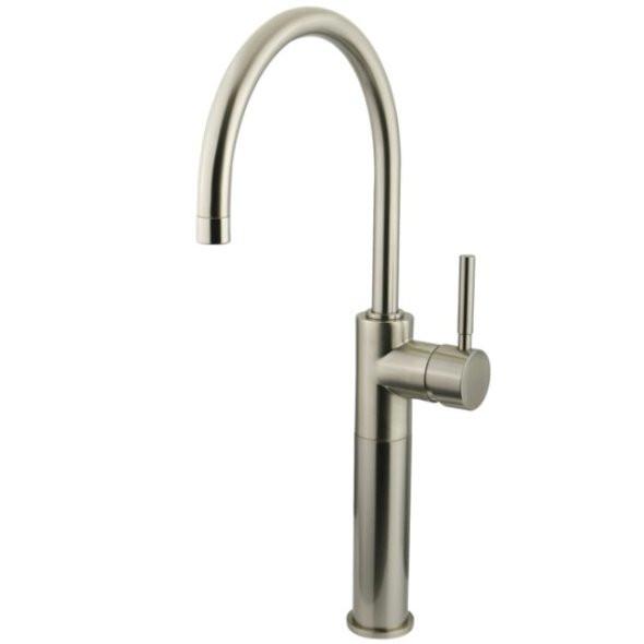 Satin Nickel Kingston Brass Concord Single Handle Vessel Sink Faucet