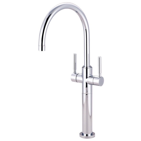 Polished Chrome Kingston Brass Concord Two Handle Vessel Sink Faucet