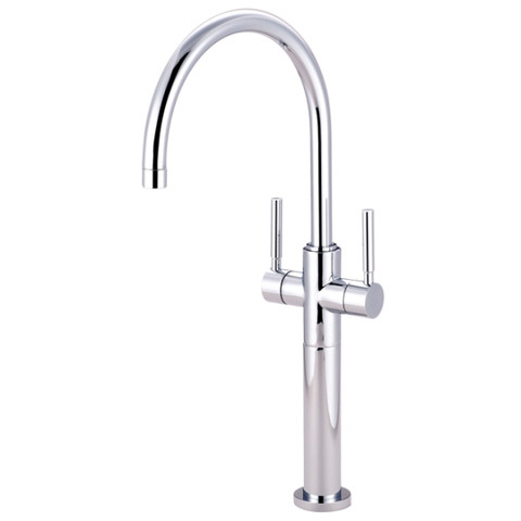 Polished Chrome Kingston Brass Concord Two Handle Vessel Sink Faucet KS8091DL