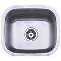 Stainless Steel Gourmetier GKUS16168 Undermount Single Bowl Bar Sink, Satin Nickel GKUS16168