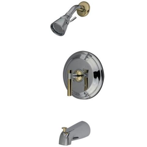 Polished Chrome/Polished Brass Single Handle Tub & Shower Faucet KB2634ML