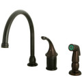 Oil Rubbed Bronze Single Handle Kitchen Faucet With Non-Metallic Sprayer KB3815GLSP
