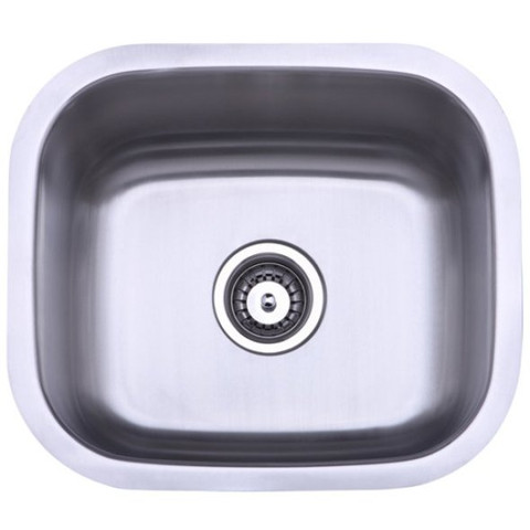 Stainless Steel Gourmetier KU14167BN Country Stainless Steel Single Bowl Undermount Kitchen Sink, Satin Nickel KU14167BN
