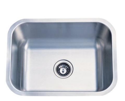 Stainless Steel Gourmetier KU23189BN Chicago Stainless Steel Single Bowl Undermount Kitchen Sink, Satin Nickel KU23189BN