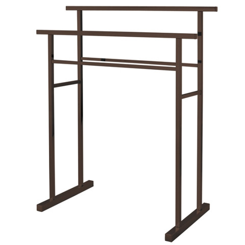 Oil Rubbed Bronze Kingston Brass SCC8245 Pedestal Steel Construction Towel Rack, Oil Rubbed Bronze SCC8245