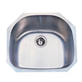 Stainless Steel Gourmetier GKUS2321 Undermount Single Bowl Kitchen Sink, Satin Nickel GKUS2321